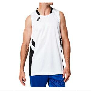 asics(アシックス) ゲームシャツ メンズ バスケットボール トレーニング スポーツウェア タンクトップ ノースリーブ 袖なし 男性用 {NP}