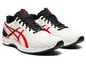 asics(アシックス) ランニング ジョギングシューズ LYTERACER 3 (ライトレーサー 3) STANDARD 【ホワイト×クラシックレッド】 1011B024 100 メンズ 男性用 トレーニング 部活 靴・シューズ 白 2021AW
