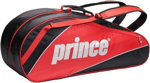 prince(プリンス) テニス バック TEAM SERIES ラケットバッグ 6本入り ボストンバッグ 【ブラック/レッド】 メンズ・レディース 男性用・女性用 AT072 236 {SK}