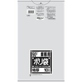 業務用 厚くて丈夫なポリ袋 L98G 透明 90L 10枚入 日本サニパック