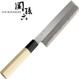 【送料無料!】関孫六 金寿本鋼 和包丁 薄刃165 菜切包丁 貝印 AK5222