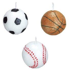 KAMEYAMA BCC スポーツキャンドル サッカー 野球 バスケットボール ミニサイズ カメヤマローソク B5535-00-10