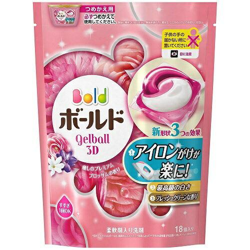 ボールド ジェルボール3D 癒しのプレミアムブロッサムの香り つめかえ 18個入 P&G(プロクター・アンド・ギャンブル)【RCP】