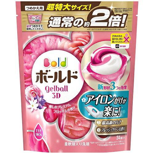 ボールド ジェルボール3D 癒しのプレミアムブロッサムの香り つめかえ 34個入 超特大サイズ P&G(プロクター・アンド・ギャンブル)【RCP】