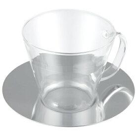 LAVIA ティーカップ&ソーサー ストレート ステンレスソーサー 耐熱ガラス ADERIA(アデリア) H-8596