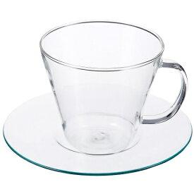 LAVIA ティーカップ&ソーサー ストレート ガラスソーサー 耐熱ガラス ADERIA(アデリア) H-8593