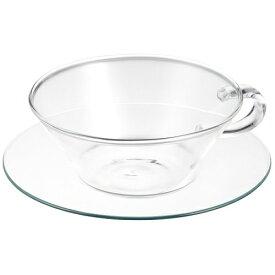LAVIA ティーカップ&ソーサー シャロウ ガラスソーサー 耐熱ガラス ADERIA(アデリア) H-8594