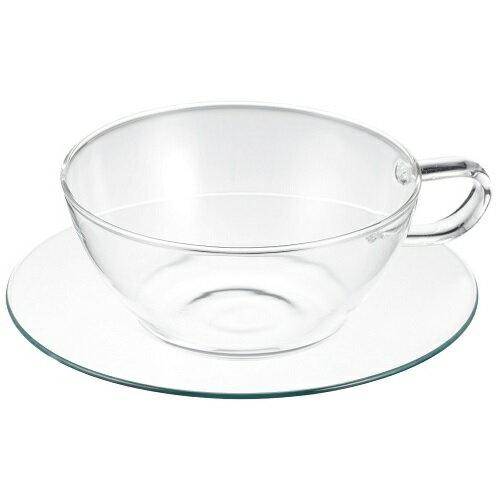 LAVIA ティーカップ&ソーサー ラウンド ガラスソーサー 耐熱ガラス ADERIA(アデリア) H-8595