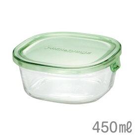 パック&レンジ 450ml グリーン iwaki(イワキ)AGCテクノグラス KT3240N
