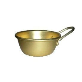 アルマイト 手付マッコリコップ 11 ゴールド 前川金属