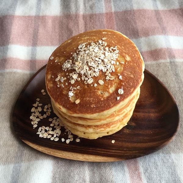 ★大麦と野菜のホットケーキミックス♪雑穀の甘さと野菜の栄養召し上がれ♪かぼちゃパウダー入り♪パンケーキで朝食にも◎