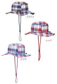 ミズノ【MIZUNO】ジュニア チェック柄ブーニーハット かわいいアウトドア用ハット登山 トレッキング キャンプ アウトドア 帽子