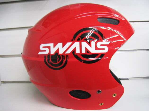 送料無料!スワンズ(SWANS)スキーヘルメット スノーボードルメットジュニアレーシング向けフルシェルヘルメット【H-50】