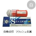 防水 LED標識灯 連続フラッシュ点滅 シーライト 2000BS 白 10個セット