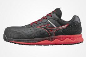 特価 残りわずか ミズノ安全靴 オールマイティ HW11L TOM'S オリジナルカラー JSAA認定品 ブラック×レッド 耐油性ラバーソール 限定販売品 MIZUNO 即日出荷可能