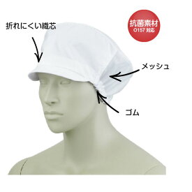 レディス帽子【9-023】 毛髪対策 異物混入対策 後ろゴム調整式