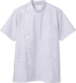 モンブラン メンズケーシー型白衣(半袖) ホワイト S-5L