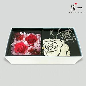 オフリールロゼ プリザーブドフラワーBOX (black)|金沢金箔の箔一(はくいち)|プレゼント ギフト 薔薇 バラ 女性 誕生日 プリザーブドフラワー 箱 箱入り ラッピング対応 シ