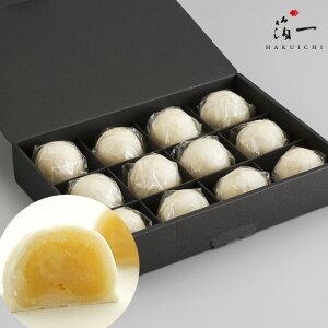 【一の菓】ミルクまんじゅう 雪珠12個入り|金沢金箔の箔一(はくいち)