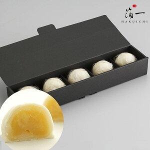 【一の菓】ミルクまんじゅう 雪珠5個入り|金沢金箔の箔一(はくいち)