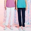HI301 ワコール 女性用 スリムストレートパンツ フォーク 白衣 医療用白衣 看護師用 ナース 白 ホワイト ピンク ナー…