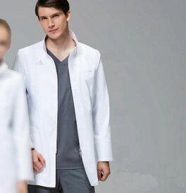 SMS202-10 adidas アディダス メンズドクターハーフコート (KAZEN)(軽い 動きやすい スタンドカラー ダブルジップ 白衣 ドクター 医師 ナースウェア 看護師 介護 男性用 病院 医院 ナース服 ナースウエア 通販 楽天 白衣ネット)