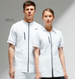 SMS602 adidas アディダス メンズジャケット(KAZEN カゼン)(白衣 ドクター 医師 ナースウェア 看護師 介護 男性用 白衣 白衣ネット)
