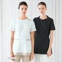 LH6282 ナガイレーベン ナースウェア ジャケット 女性用 半袖 制菌加工 制電 吸水 防汚 透け防止 涼感素材 業務用洗濯…