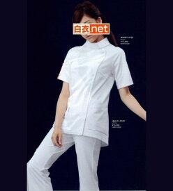 LKM001アシックス asics レディースジャケット(半袖白衣 白衣 医療用白衣 看護師用 ナース 白 ホワイト ピンク ブルー ベージュ ナース ジャケット ナース服 ナースウェア ナースウエア 女性用 白衣 通販 楽天 白衣ネット)