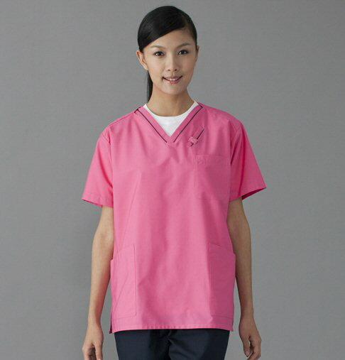 フォーク 7003SC スクラブ(男女兼用 白衣 医療用白衣 看護師用 ナース ピンク グレー ネイビー メンズ 男性 通販 楽天 白衣ネット)