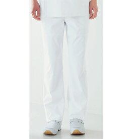 REP150 KAZEN カゼン メンズスラックス(ノータック 白衣 医療用白衣 医師用 ドクター 男性 大きいサイズ 白 ホワイト 男性 白衣ネット)