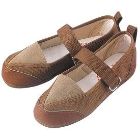 W502 婦人用リハビリシューズ (白 茶 ホワイト ブラウン 靴 マリアンヌ製靴 mariannu 白衣ネット)