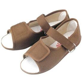 W503 婦人用リハビリシューズ (白 茶 ホワイト ブラウン 靴 マリアンヌ製靴 mariannu 白衣ネット)