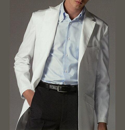 FD4020 ナガイレーベン Naway 男性用 白衣 シングルボタン 診察衣 AB体 ゆったりタイプ (送料無料 白衣 医療用白衣 医師用 医者 ドクター 男性 男性用 白衣 メンズ 薬局・薬剤師 白 ホワイト 通販 楽天 白衣ネット)