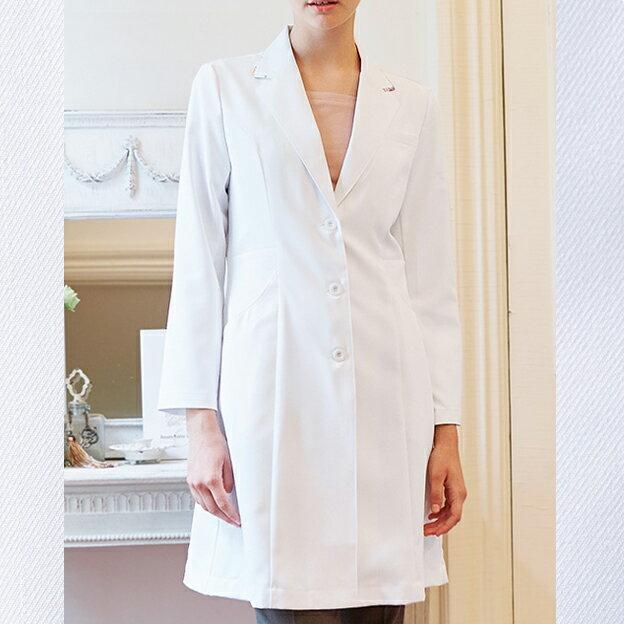 LW102 モンブラン LAURA ASHLEY ローラアシュレイ レディスドクターコート 長袖 診察衣 レディース 女性用 白衣 montblanc 通販 楽天 白衣ネット エステ 医療 おしゃれ かわいい 上品
