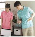 237 KAZENカゼン 綿混トリコット 全10色ポロシャツ(男女兼用) (白 ホワイト ピンク グリーン ネイビー s m l 通販 楽…