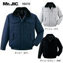 防寒ジャンパー 表綿100% 98070 自重堂 Mr.JIC 防寒着 S〜5L 「ロジ」