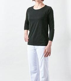 CE423-1モンブラン 8分袖 スクラブ インナーTシャツ 医療白衣