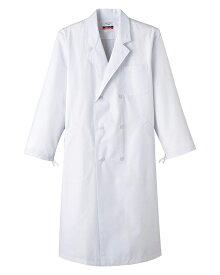 白衣 半額 男性用 MR115(MR115) あす楽 診察衣 抗菌 防臭加工 サンペックスイスト ドクターダブル S〜5L 医療