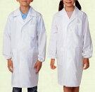 白衣児童子供小学生用シングル診察衣実験衣医療OP121