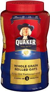 クエーカー オールドファッションオートミール1.2キロ オートミール クエーカー 朝食おやつ アメリカ 輸入 アメリカ お土産 アメリカ シリアル 便秘解消 ダイエット食品 ダイエット 置き
