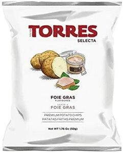 TORRES トーレス フォアグラ風味ポテトチップス 50g 原産国名スペイン 輸入ポテトチップス スペインのスナック 輸入菓子 海外ポテトチップス 海外スナック 高級ポテトチップス