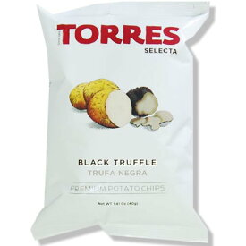 【送料無料】トーレス 黒トリュフポテトチップス 40g×20袋 原産国名スペイン 輸入ポテトチップス スペインのスナック 輸入菓子 海外ポテトチップス 海外スナック 高級ポテトチップス