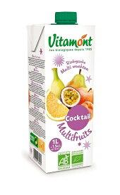 【送料込み】ヴィタモント マルチフルーツ ミックス ジュース1L×8本 砂糖不使用、着色料、保存料も一切使用していません。