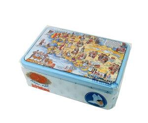 ラ・トリニテーヌ ブルターニュマップ 300g 缶 輸入菓子缶 海外菓子 缶 ラトリニテーヌ フランスのクッキー フランスのお菓子