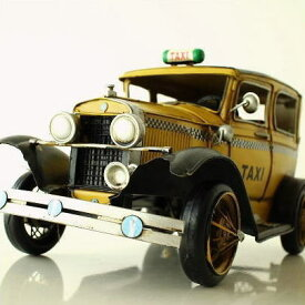 アンティーク レトロ 車 TAXI 置物 おしゃれ ブリキのおもちゃ アイアン 鉄 アメリカン雑貨 アメリカ雑貨 インテリアオブジェ アンティーク風 雑貨 かっこいい 置物 小物 男性 誕生日プレゼント 贈り物 アンティーク調 車 置物 American Nostalgia タクシー