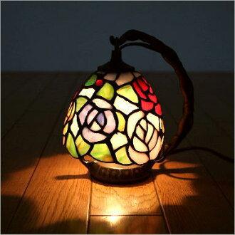 hakusan  라쿠텐 일본: 스테인드 글라스 램프 조명 램프 테이블 ...