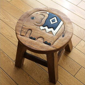 木製スツール ゾウスツール 雑貨 ぞう インテリア かわいい おしゃれ 子ども こども ベビーチェア ミニスツール 花台 玄関椅子 木製椅子 フラワースタンド 天然木スツール ウッドスツール アジアンスツール シンプル アジアン家具 子供椅子 象さん
