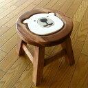 木製スツール しろくまスツール シロクマ 雑貨 インテリア かわいい おしゃれ 子ども こども 小さい 木工品 アカシア …