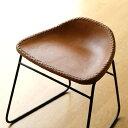 本革スツール デザイン レザースツール 本革椅子 スリム 軽量 アイアン アンティーク リビングチェアー 玄関椅子 いす…